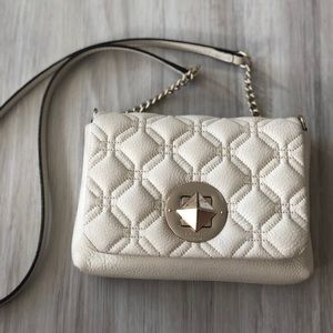 {Kate spade} cream quilted crossbody mini astor
